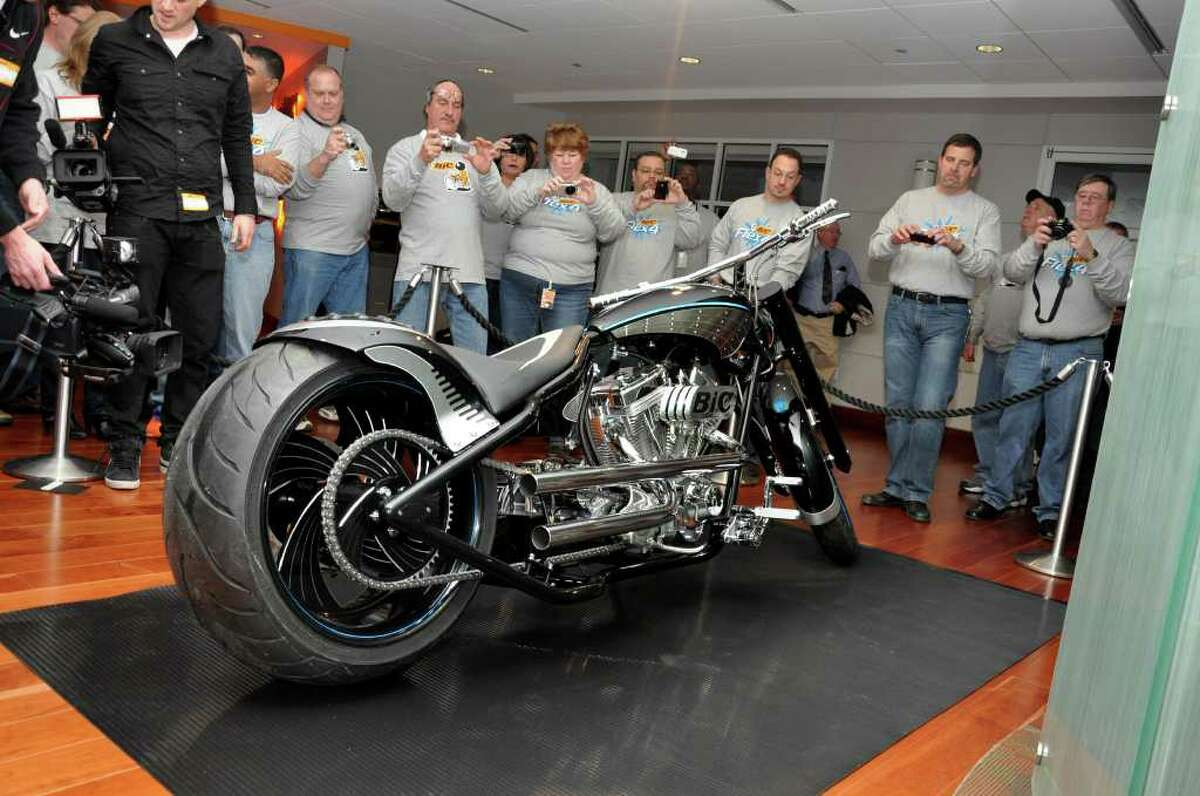 The BIC Flex4 motorcycle unveiling at BIC Corporation in Shelton on Friday, Jan. 7, 2011.