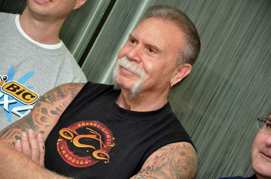 Paul Teutul, Sr., owner of Orange County Choppers, at the BIC Flex4 motorcycle unveiling at BIC Corporation in Shelton on Friday, Jan. 7, 2011. Photo: Amy Mortensen / Connecticut Post Freelance