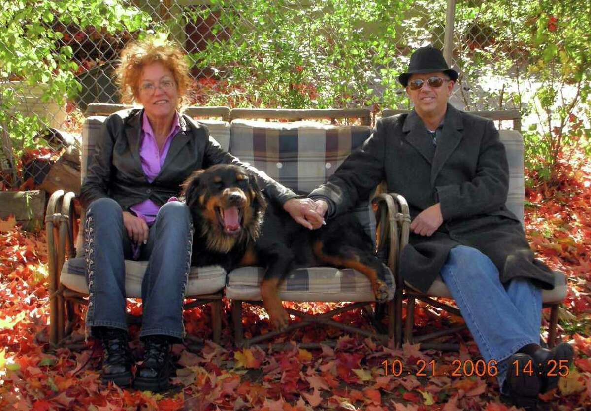 Marianna Mormando with her husband, Robert Mormando, and her dog Grizzly. Marianna Mormando and Grizzly died in a house fire in their home at 16 Philo Curtis Road, Dec. 30, 2010.