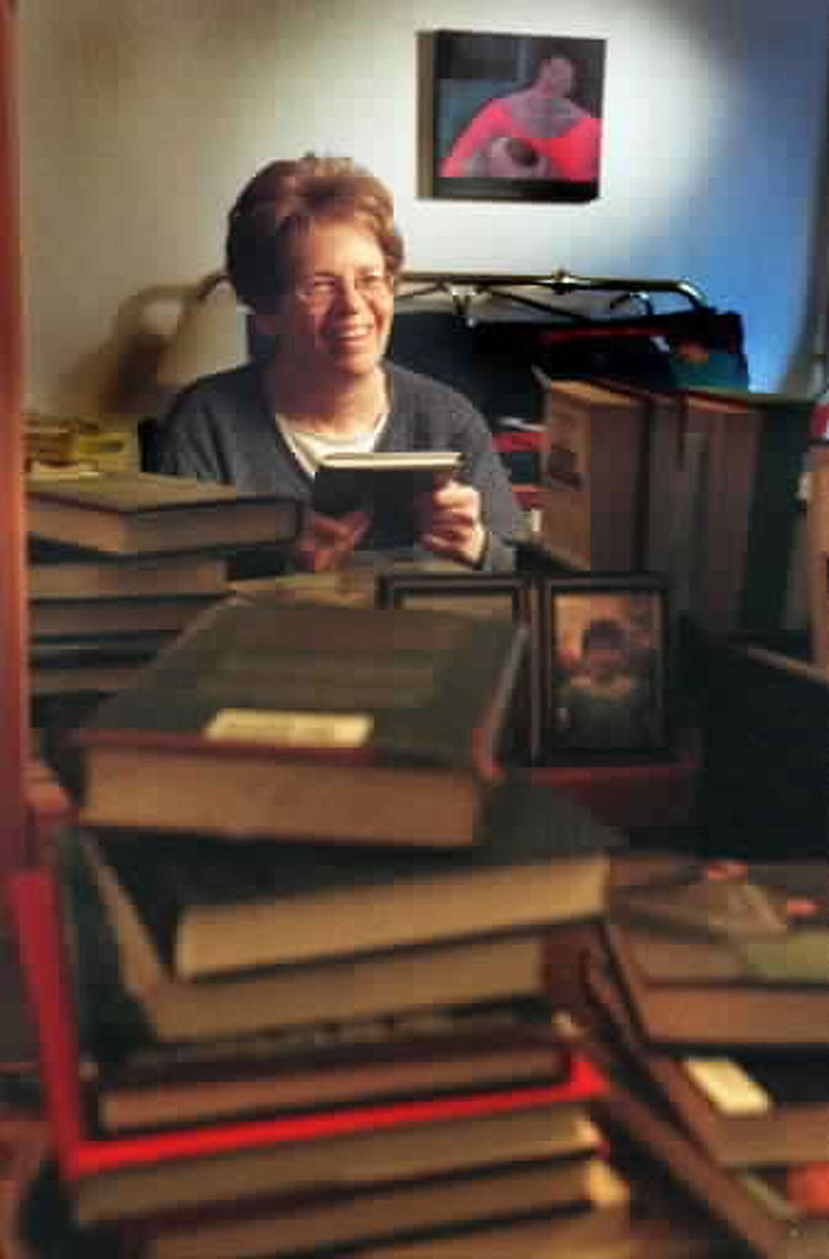 Vera Propp is shown in the office where she wrote her books in this 1999 photo. (Paul Buckowski/Times Union archive)