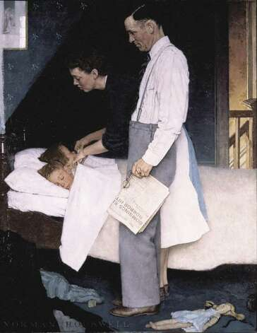 """Freedom from Fear,"" 1943, by Norman Rockwell. SEPS. (From the permanent collection of Norman Rockwell Museum)"