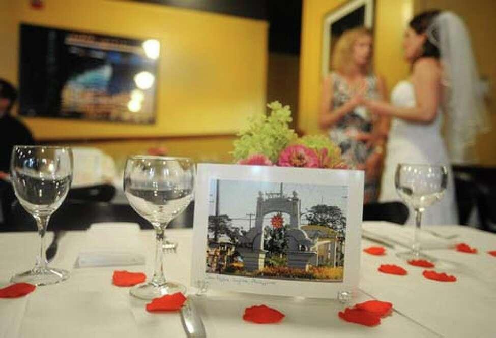 The author's wedding reception (Lori Van Buren / Times Union)