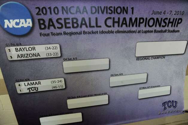 Lamar University baseball plays in the NCAA tournament game against TCU at Lupton Stadium in Fort Worth on Friday, June 4, 2010.  Valentino Mauricio/The Enterprise Photo: Valentino Mauricio / Beaumont