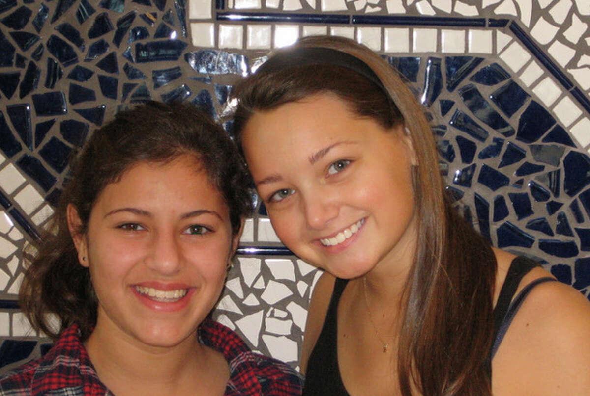 "Sami Schwaeber and Zoe Greenblatt are Staples High School students active in ""Circle of Friends,"" a program run by Beth Israel of Westport/Norwalk."