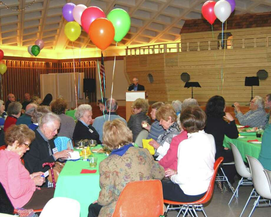 Staying Put celebrates its birthday at St. Mark's Morrell Hall on Sunday.  President Tom Ferguson welcomed the participants. Photo: Jeanna Petersen Shepard / New Canaan News