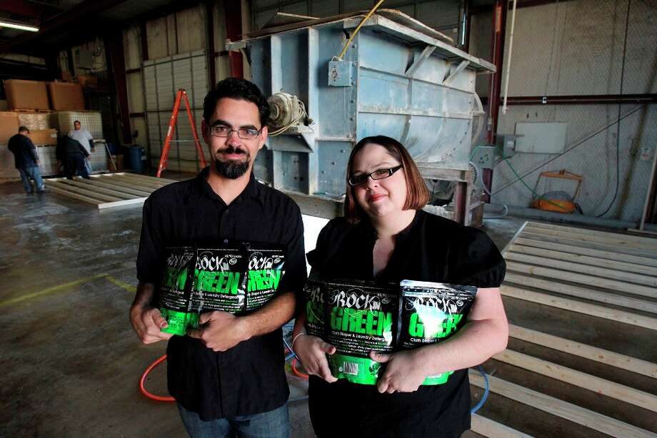 """Rockin Green Cloth Diaper and Laundry Detergent"" was created by and is now sold by Jeremy Webb and Kimberly Webb. By JOHN DAVENPORT/jdavenport@express-news.net"