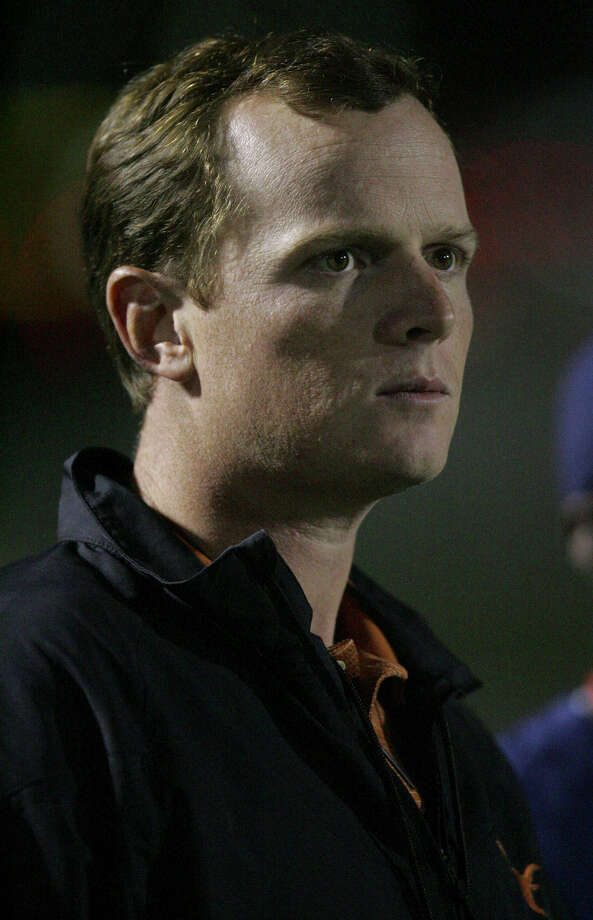 Major Applewhite (above) says he doesn't mind sharing offensive coordinator duties with Bryan Harsin. Photo: Express-News File Photo