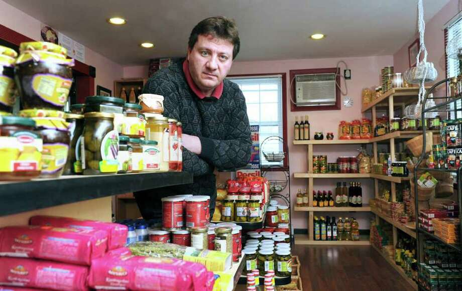 Chris Zlotea, owner of European Delicacies, is photographed in his store on 331 Federal Rd in Brookfield, Tuesday, January 11, 2011. Photo: Carol Kaliff / The News-Times