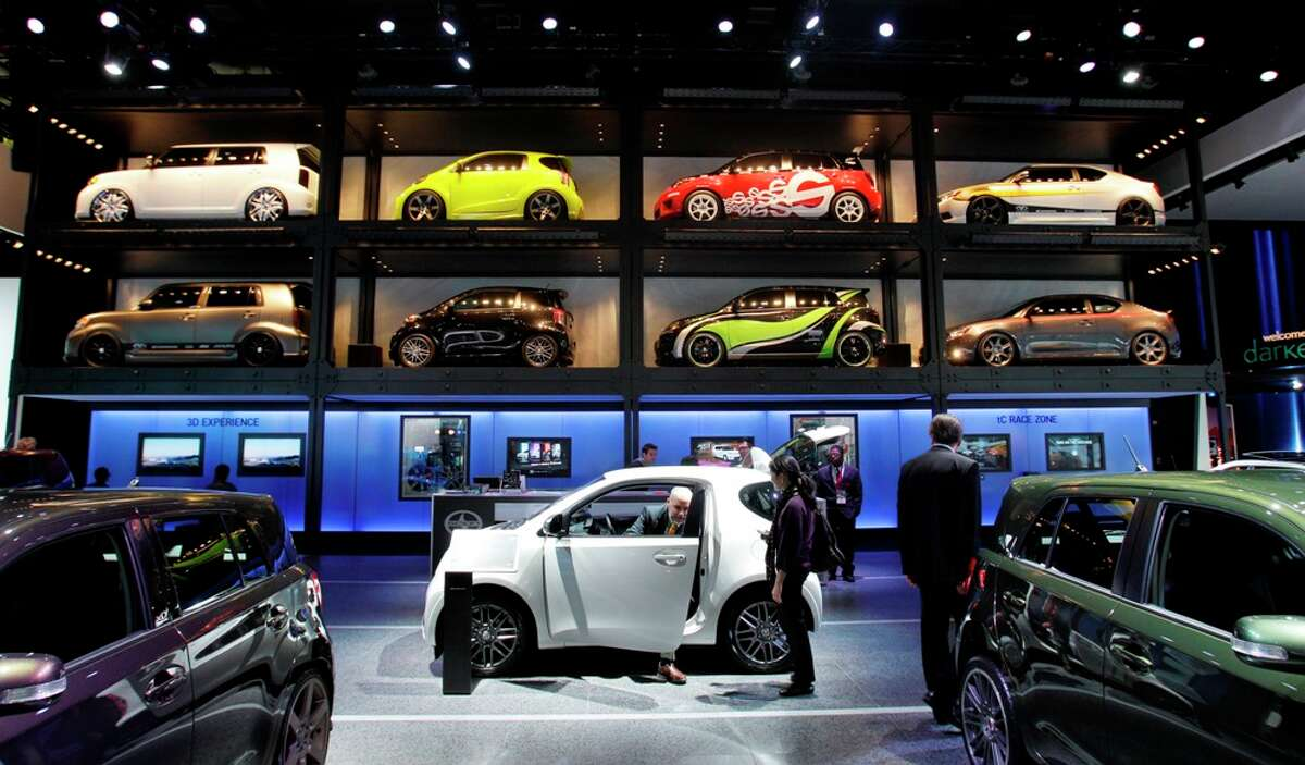 The Scion display at the North American International Auto Show in Detroit, Tuesday, Jan. 11, 2011. Carlos Osorio/Associated Press