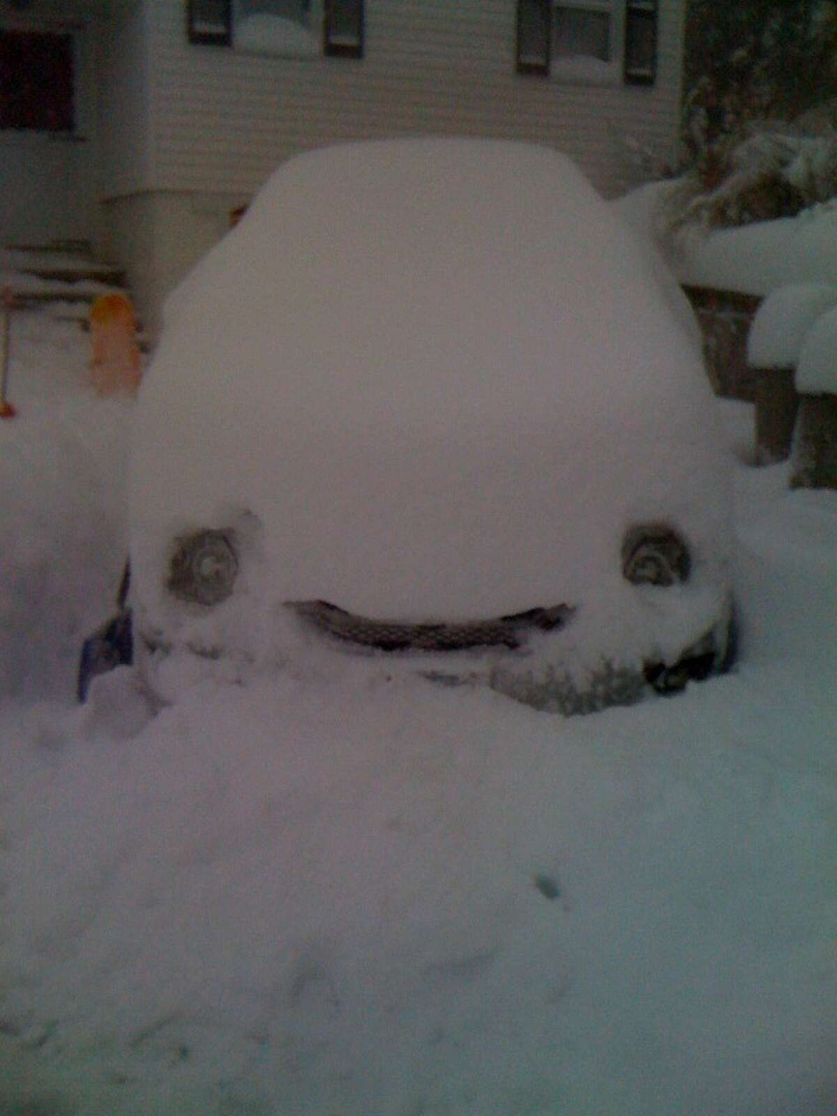 Eric Newman sends us a photo of his car that was happy to get the day off.
