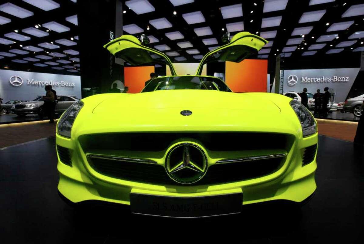 The Mercedes Benz SLS AMG E-Cell.