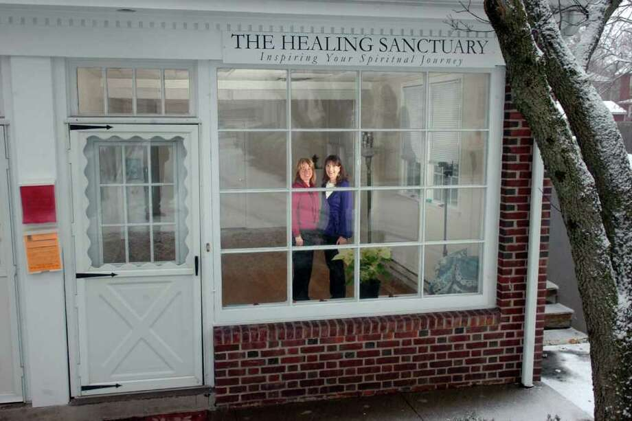 Sage Osa (left) and Brooke Becker are the co-owners of The Healing Sanctuary in Fairfield, Conn. Jan. 7th, 2011. Photo: Ned Gerard / Connecticut Post