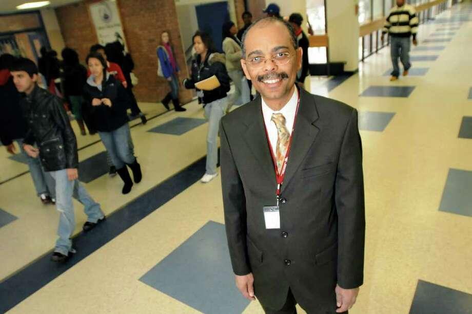 Principal David McCalla in the hallways of Albany High School. (Cindy Schultz / Times Union) Photo: Cindy Schultz