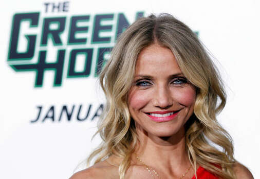 "Cast member Cameron Diaz arrives at the premiere ""The Green Hornet"" in Los Angeles, on Monday, Jan 10, 2011. Photo: Matt Sayles/AP Photo"