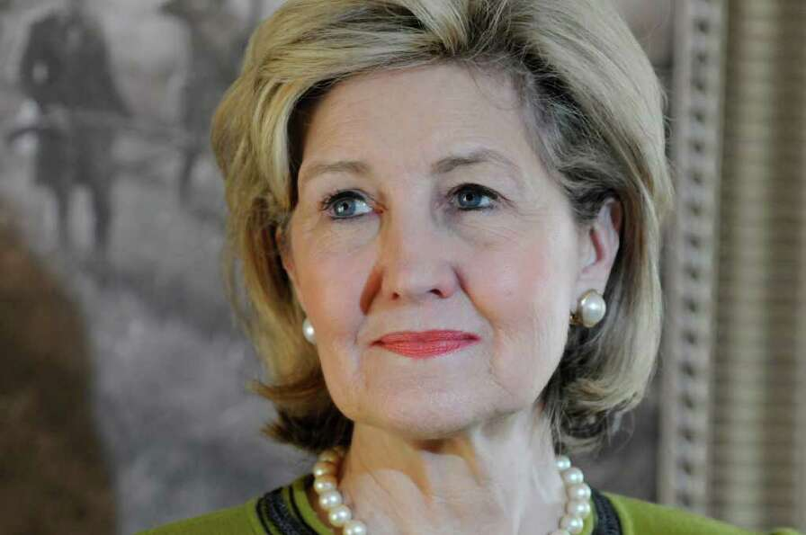 U.S. Senator Kay Bailey Hutchison, Republican Texas gubernatorial candidate speaks at a press confer