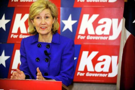 Sen. Kay Bailey Hutchison holds a news conference in TAC Air at Rick Husband Amarillo International Airport Monday, Jan. 18, 2010. Hutchison proposed new regulations for lobbyists, curbs on some political contributions and constitutional reforms to limit a governor's power of veto. Photo: AP