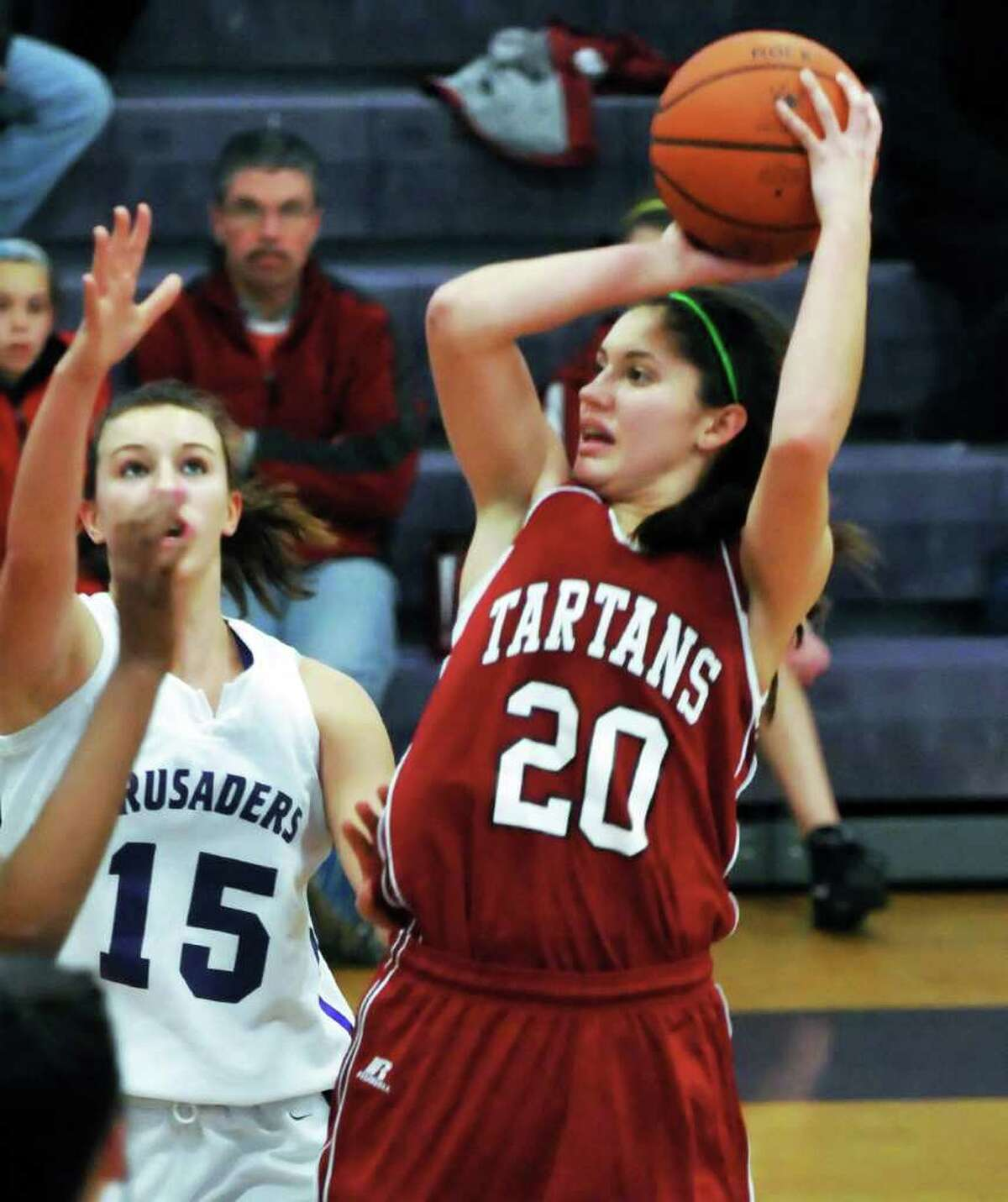 Scotia?s Cassie Broadhead is averaging 16.5 points per game along with 4.6 assists and 6.5 rebounds this season. (John Carl D'Annibale/Times Union)