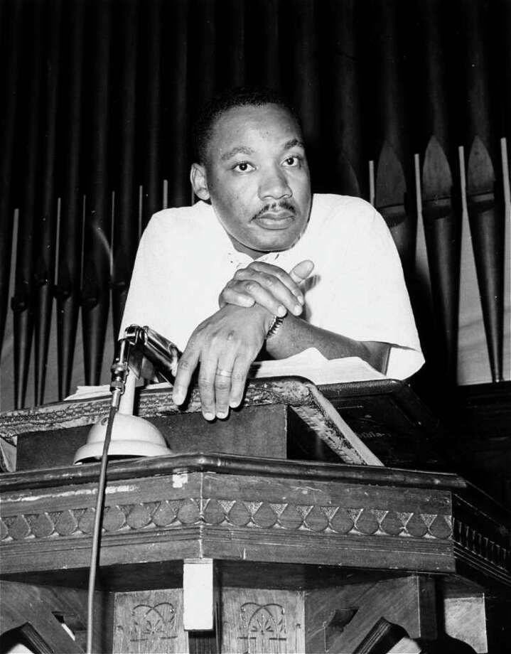 Rev. Martin Luther King, Jr., is pictured at an integration rally in Montgomery, Ala. in this May 21, 1961 file photo. Photo: HORACE CORT, AP / AP