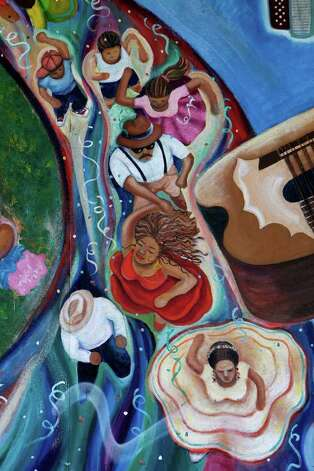 "A detail from San Anto Cultural Arts ""Cultura y Revolucion"" mural located at the corner of Trinity and San Patricio on Tuesday, Jan. 6, 2009. Photo: JERRY LARA, SAN ANTONIO EXPRESS-NEWS / glara@express-news.net"