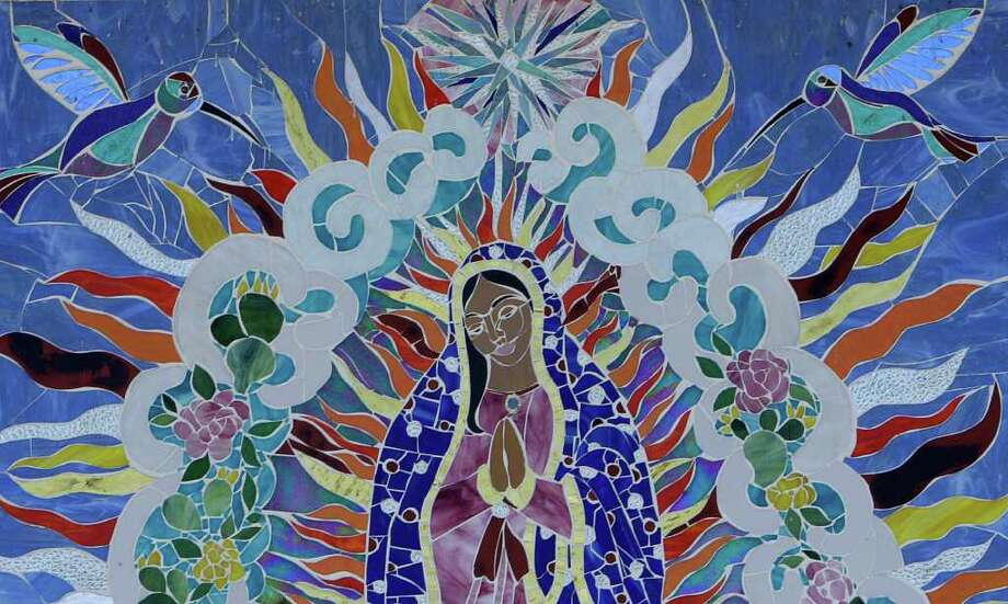 "A detail from San Anto Cultural Arts ""Musaico de la Virgen de Guadalupe,"" located at 1223 South Trinity on Tuesday, Jan. 6, 2009. Photo: JERRY LARA, SAN ANTONIO EXPRESS-NEWS / glara@express-news.net"