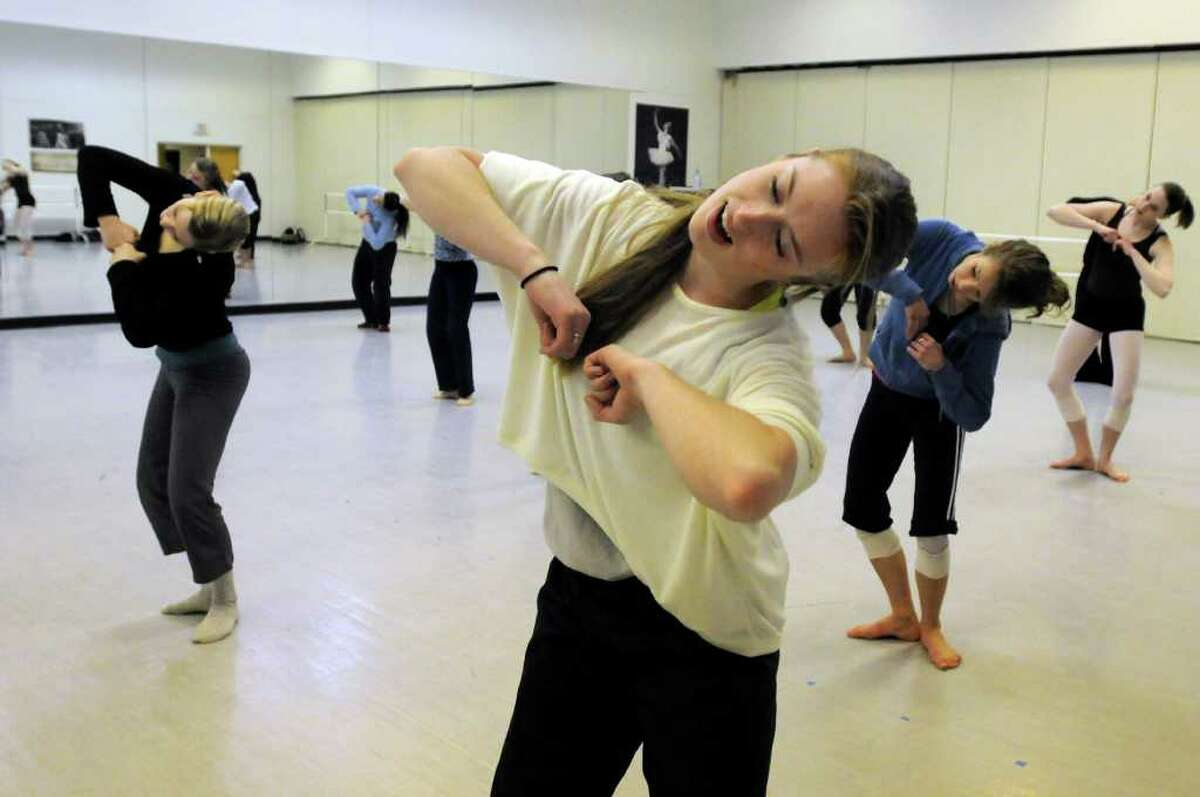 Christy Williams, 23, right, takes part in a master dance class on Saturday, Jan. 15, at the National Museum of Dance in Saratoga Springs. (Cindy Schultz / Times Union)