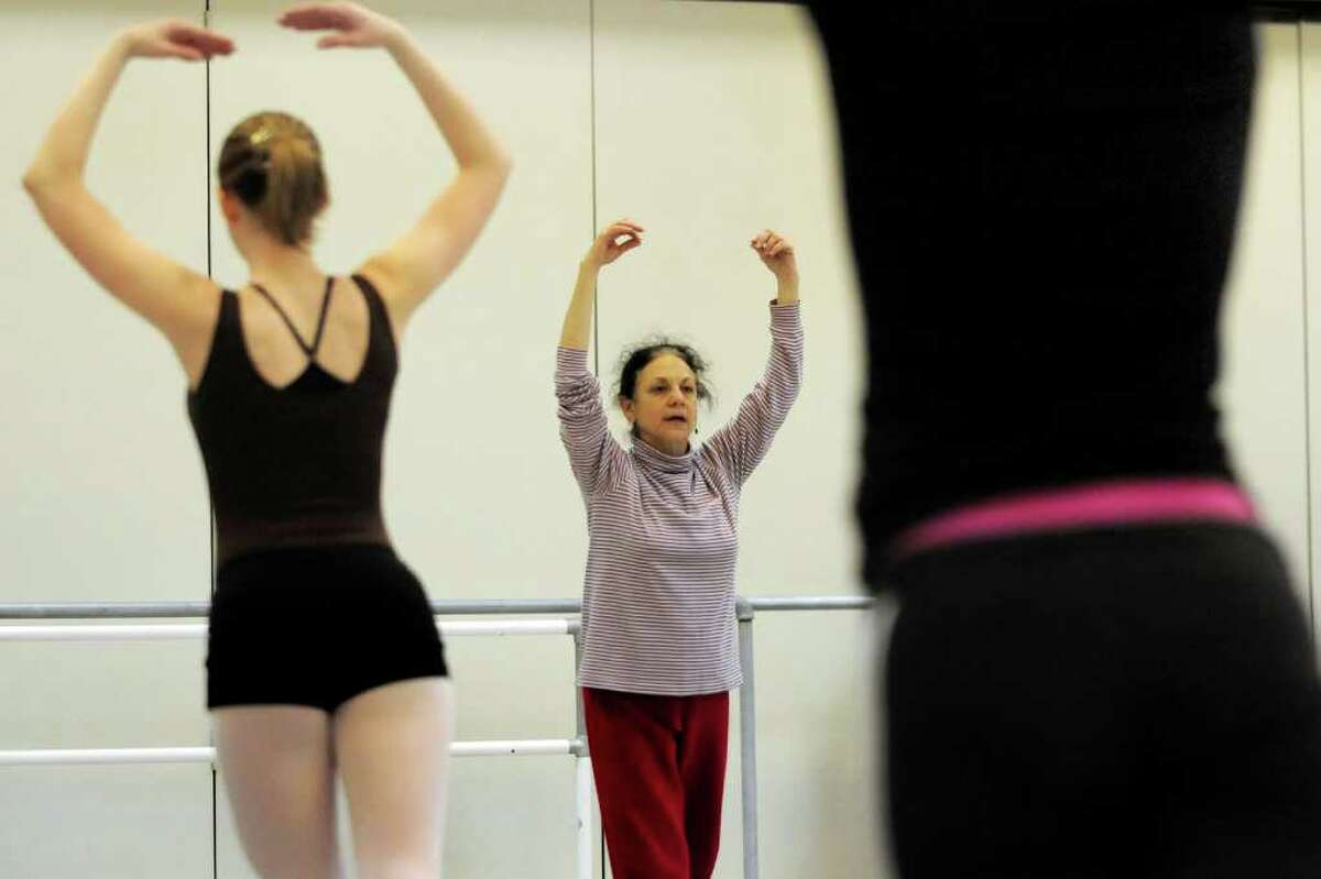 Carla Maxwell, artistic director of the Limon Dance Company and artist in residence at Skidmore College, teaches a master dance class on Saturday, Jan. 15, at the National Museum of Dance in Saratoga Springs. (Cindy Schultz / Times Union)