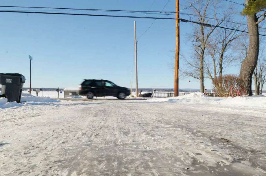 A view of Jib Drive in Stillwater, N.Y., on Monday, Jan. 10, 2011.  The road is ice covered in the photo.  (Paul Buckowski / Times Union) Photo: Paul Buckowski / 00011689A