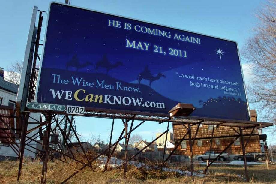 A billboard on Barnum Ave. in Bridgeport, Conn. Jan. 6th, 2011. Photo: Ned Gerard / Connecticut Post