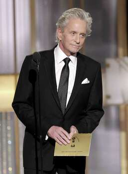 BEVERLY HILLS, CA - JANUARY 16: In this handout photo provided by NBC, Presenter Michael Douglas speaks onstage during the Golden Globes at the Beverly Hilton International Ballroom on January 16, 2011 in Beverly Hills, California. (Photo by Paul Drinkwater/NBC via Getty Images) Photo: Handout, Getty Images / Getty Images