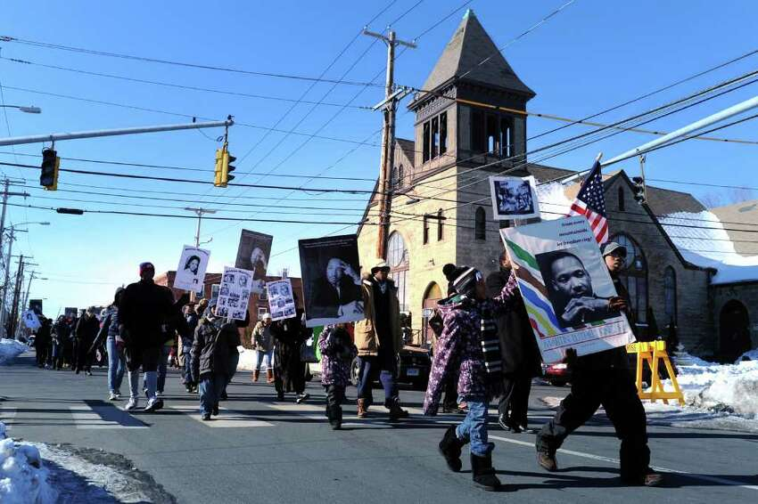 The annual Dr. Martin Luther King Jr. commemorative march in Bridgeport, Conn. Jan. 17th, 2011.