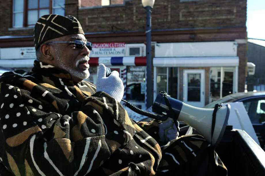 The annual Dr. Martin Luther King Jr. commemorative march in Bridgeport, Conn. Jan. 17th, 2011. Photo: Ned Gerard / Connecticut Post
