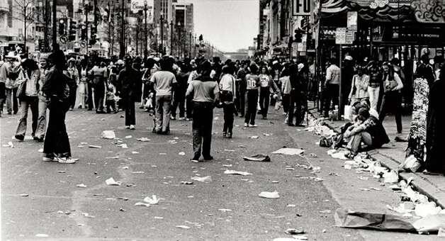 After the Mardi Gras parade on Galveston Island, Enterprise file photo
