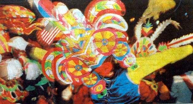 """Galveston's Grand Night Parade will feature 20 Junkanoo dancers, above, from the Bahamas."" Enterprise file photo 1987"