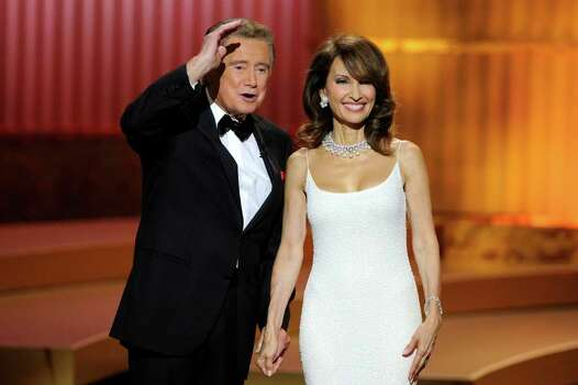 LAS VEGAS - JUNE 27:  Host Regis Philbin (L) and actress Susan Lucci speak onstage at the 37th Annual Daytime Entertainment Emmy Awards held at the Las Vegas Hilton on June 27, 2010 in Las Vegas, Nevada.  (Photo by Ethan Miller/Getty Images) *** Local Caption *** Regis Philbin;Susan Lucci Photo: Ethan Miller, Getty Images / 2010 Getty Images