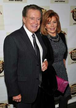 "NEW YORK - NOVEMBER 09:  Regis Philbin (L) and Joy Philbin attend the Broadway opening of ""Colin Quinn Long Story Short"" at the Helen Hayes Theatre on November 9, 2010 in New York City.  (Photo by Theo Wargo/Getty Images for Colin Quinn Long Story Short) *** Local Caption *** Regis Philbin;Joy Philbin Photo: Theo Wargo, Getty Images For Colin Quinn Lon / 2010 Getty Images"