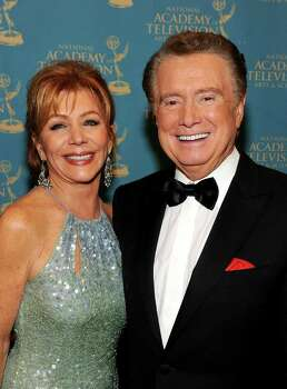 LAS VEGAS - JUNE 27:  TV Personality Regis Philbin (R) and wife Joy Philbin pose in the trophy room at the 37th Annual Daytime Entertainment Emmy Awards held at the Las Vegas Hilton on June 27, 2010 in Las Vegas, Nevada.  (Photo by Frazer Harrison/Getty Images for ATI) *** Local Caption *** Regis Philbin;Joy Philbin Photo: Frazer Harrison, Getty Images For ATI / 2010 Getty Images