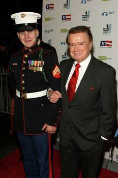 NEW YORK - NOVEMBER 05:  Marine Jeff Landay and TV personality Regis Philbin attends the 2008 Stand Up For Heroes: A Benefit for the Bob Woodruff Foundation at Town Hall on November 5, 2008 in New York City.  (Photo by Bryan Bedder/Getty Images) Photo: Bryan Bedder, Getty Images / 2008 Getty Images