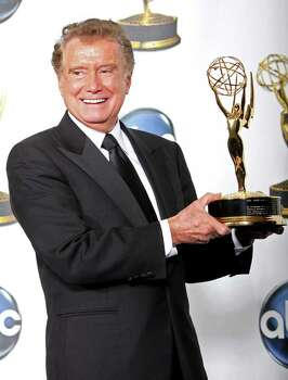 HOLLYWOOD - JUNE 20:  TV host Regis Philbin poses with the Lifetime Achievement Award in the press room at the 35th Annual Daytime Emmy Awards held at the Kodak Theatre on June 20, 2008 in Hollywood, California.  (Photo by Frederick M. Brown/Getty Images) Photo: Frederick M. Brown, Getty Images / 2008 Getty Images