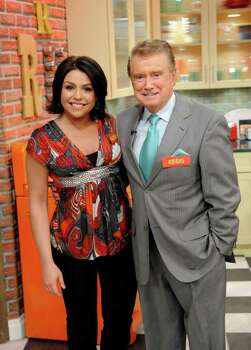 "In this image released by ""The Rachael Ray Show,"" host Rachael Ray poses with guest Regis Philbin during the taping of ""The Rachael Ray Show"" in New York on Tuesday, March 25, 2008.  The program is scheduled to air on Friday, April 25. (AP Photo/The Rachael Ray Show, David M. Russell) ** MANDATORY CREDIT; NO SALES; NO ARCHIVE; NORTH AMERICAN USE ONLY ** Photo: David M. Russell, HO / AP2008"