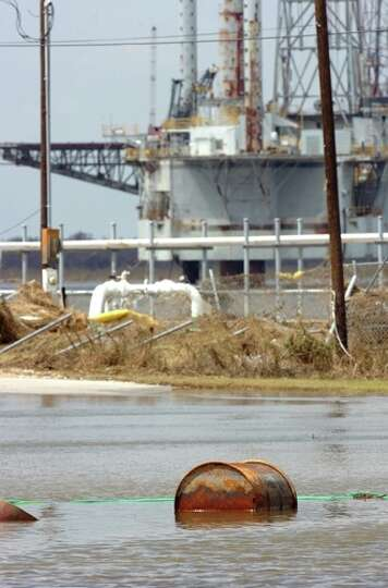 Flood waters are expected to not recede from Sabine Pass for several days. Guiseppe Barranco/