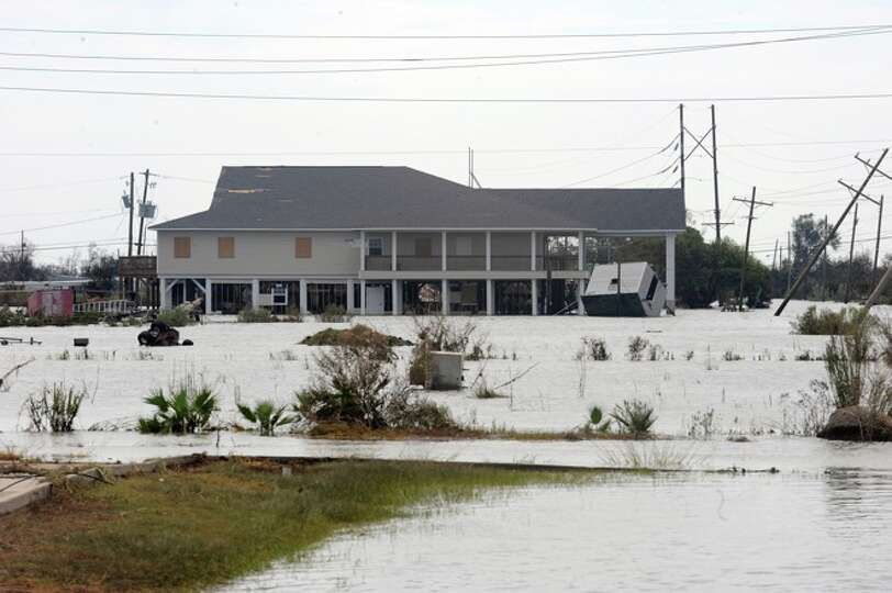 Several Sabine Pass homes that were rebuilt from Rita on piers with stood the winds of Hurricane Ike