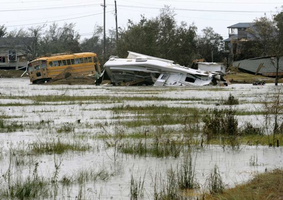 Flood waters are expected to not recede from Sabine Pass for several days. Guiseppe Barranco/ Photo: THE ENTERPRISE