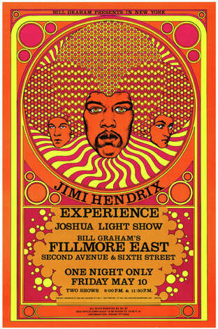 Jimi Hendrix Poster For A 1968 Show From The Quot Fifty