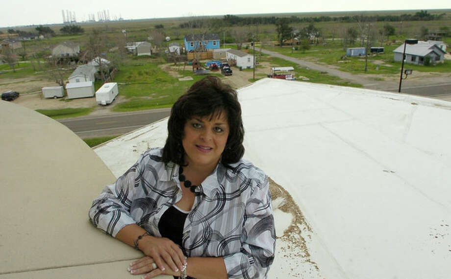 Kristi Heid, Principal of the Sabine Pass School, played a big role in the recovery efforts that went on in Sabine Pass after Hurricane Ike.    Dave Ryan/The Enterprise Photo: EMILY GUEVARA