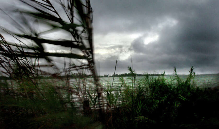 Tropical Storm, Edouard rolls ashore in Sabine Pass early Tuesday morning.  Tammy McKinley/The Enter