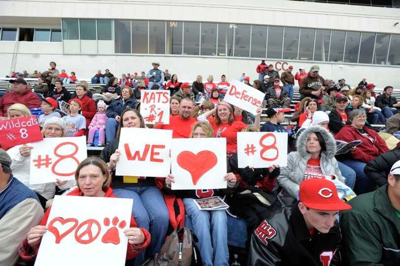 Kirbyville fans show thier love at Bobcat Stadium for the Wildcats Class 2A Division I title game ag