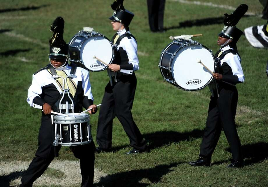 Woodville Marching Band performs during the UIL Marching Band Competition in Mauriceville, Saturday. Photo: TAMMY MCKINLEY
