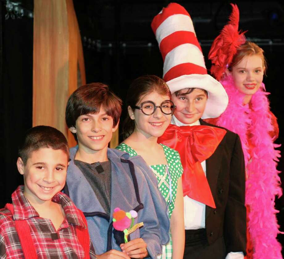 "he Music Theatre of Connecticut MainStage Kids will present  ""Seussical, The Musical: Junior Edition,"" Friday and Saturday, Jan. 21 and 22, at the Westport Country Playhouse. The cast includes Sammy Guthartz of Westport as JoJo, Tyler Miller of Westport as Horton, Scarlett Machson of Weston as Gertrude McFuzz, David Littlefield of Wilton as the Cat In The Hat, Rachel Rival of Fairfield as Mayzie. Photo: Contributed Photo / Stamford Advocate Contributed"
