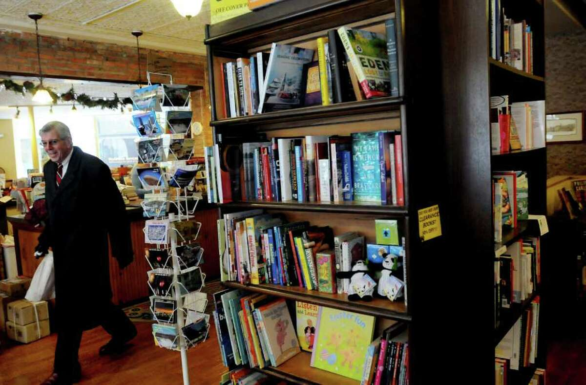 Richard Wallace of Brunswick visits Market Block Books on Tuesday, Jan. 18, 2011, in Troy. (Cindy Schultz / Times Union)