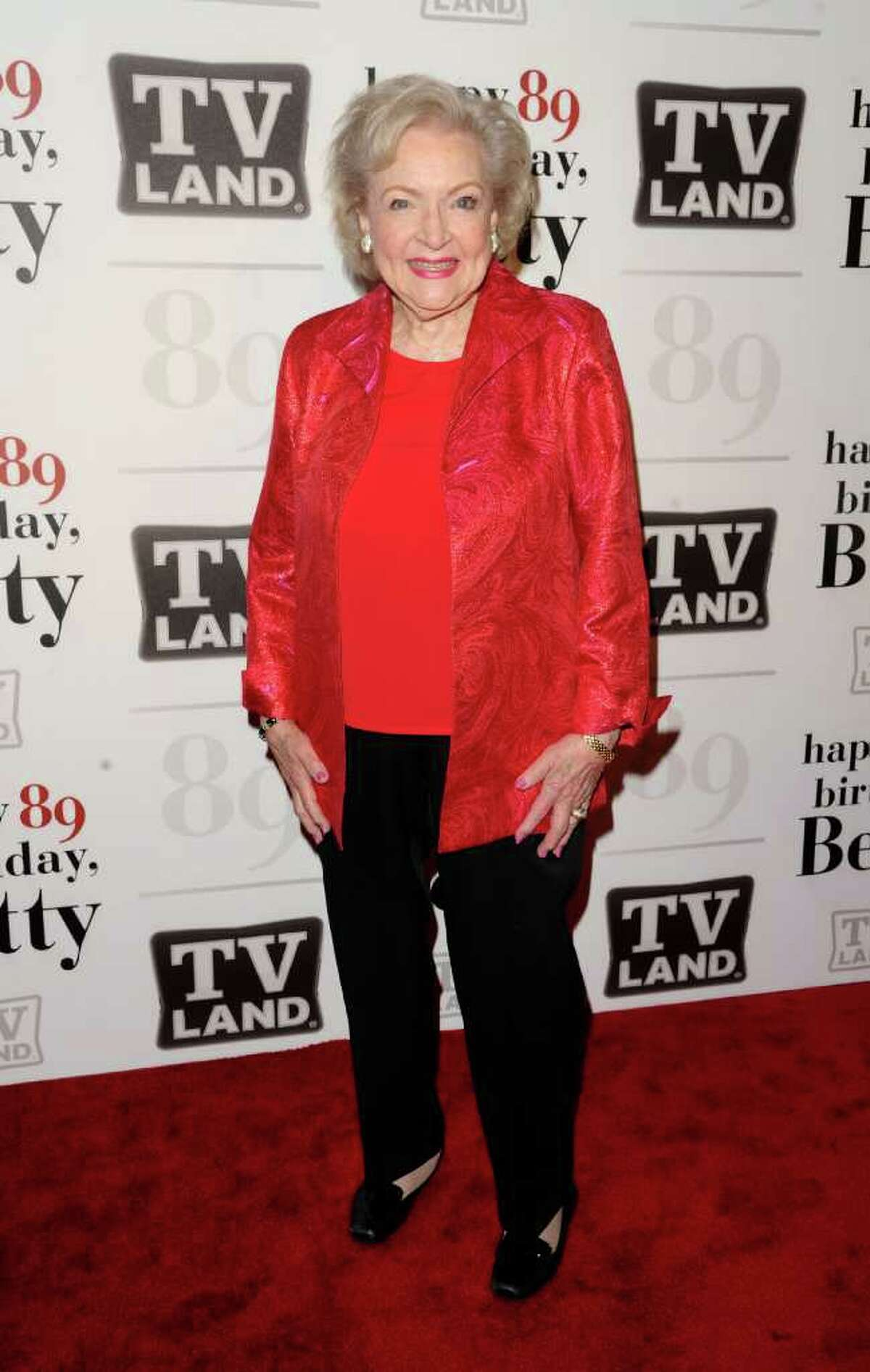 Actress Betty White attends her 89th Birthday celebration hosted by TV Land, in New York, on Tuesday, Jan. 18, 2011.